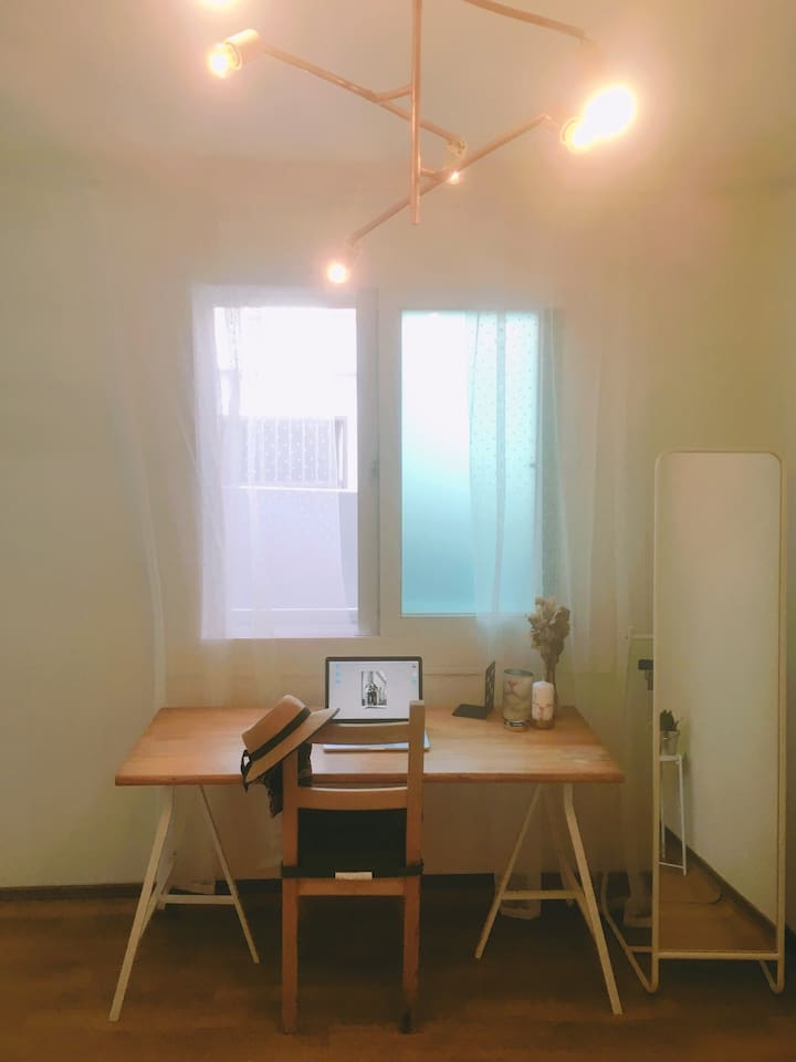 bedroom working area