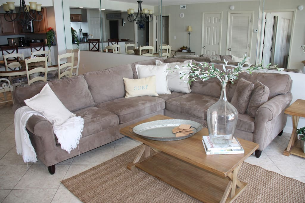 Living Room area with pull out sofa
