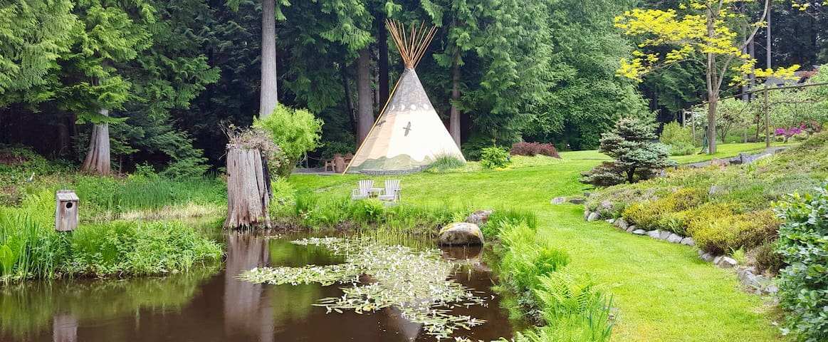 Relax in an authentic Tipi!