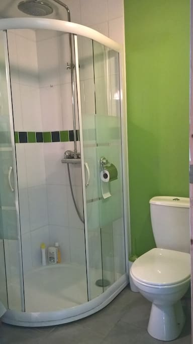 Salle d'eau privative avec douche et WC
