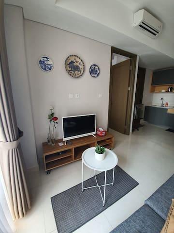 Homey 1 BR Apartment at Pamengkang Apartment