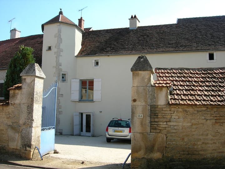 Les pommiers,  17th century stone house with tower