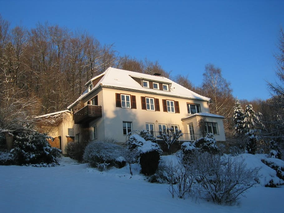Villa Fips im Winter