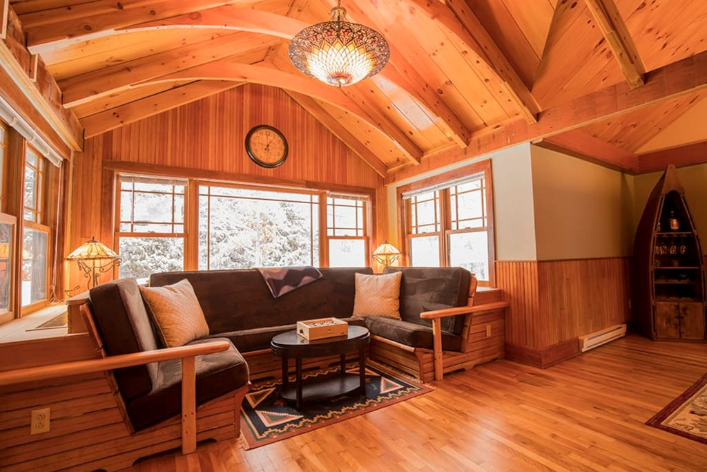 Comfortable Seating Near Fireplace