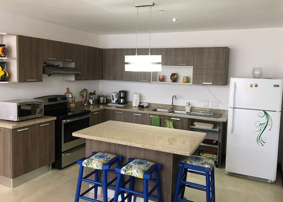 Open space kitchen, fully equipped