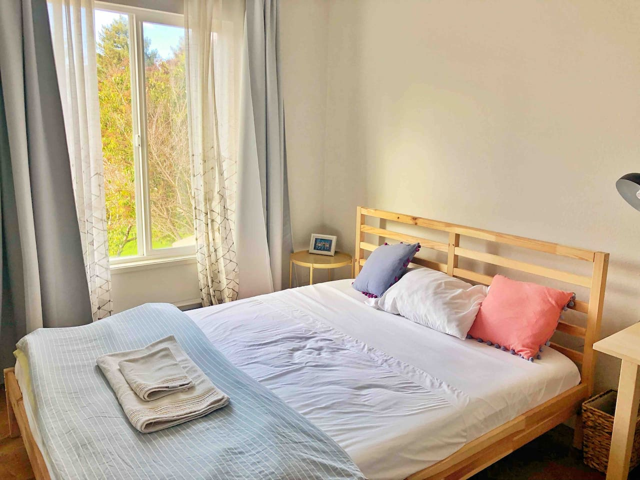 Your sunny and comfortable bedroom