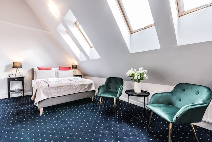 Cozy attic room with A/C in Serenity Aparthotel