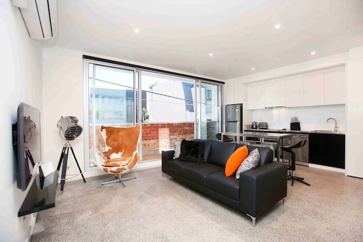 Industrial Style Apartment in South Melbourne - South Melbourne - Appartement