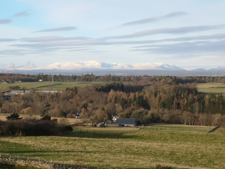Spectacular views at tranquil Assich Croft