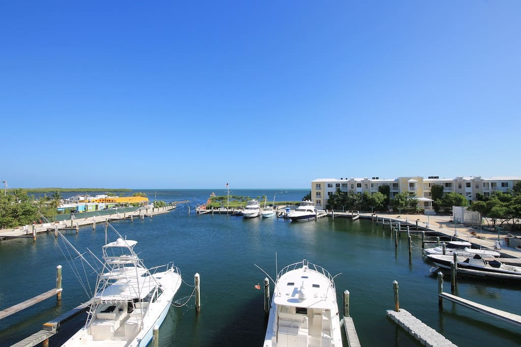 Marina with boat slips available for rent