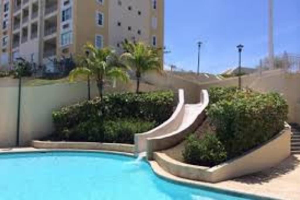 the complex has 3 swiming pools