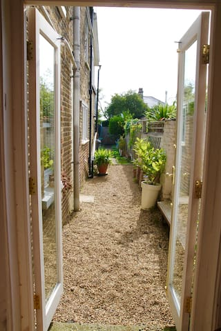 French windows from lounge to garden