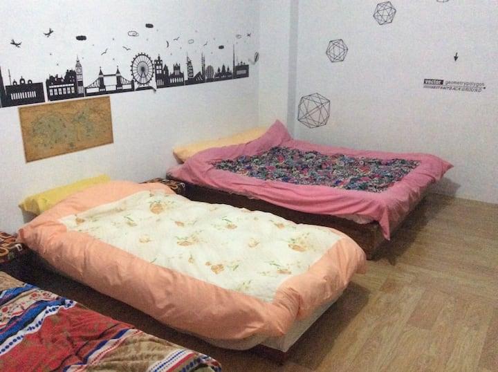 宜蘭頭城海邊-nami醬的衝浪天堂/通舖房型-1(雙人床 Double bed-no.1)