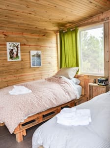 Off Grid Eco-Cabin#3 inside Wild Mustang Sanctuary