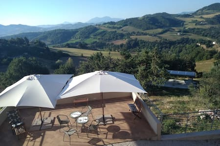 Green B&B Urbino - Ca' del vento Camera con vista🌍
