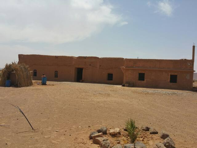 Sahara desert farmhouse