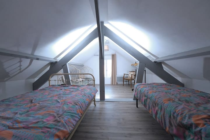 La chambre du nord a l'étage