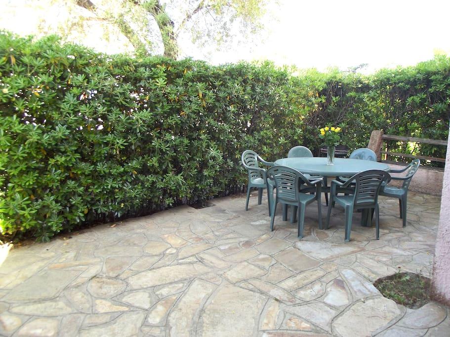 Wide veranda semi covered