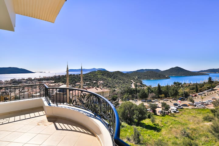 Blue: The Best View of KAS from Apartment