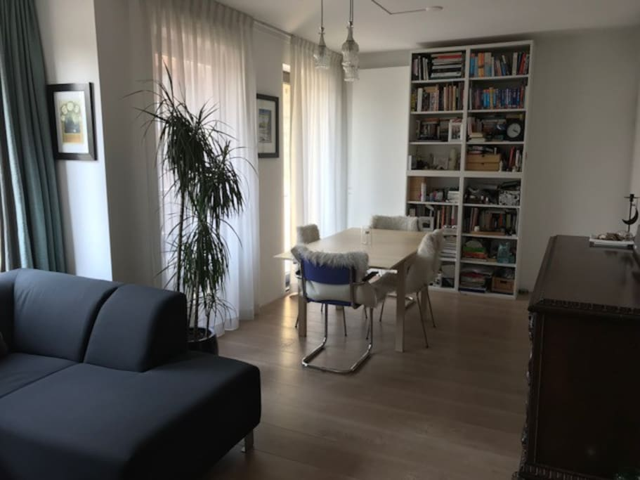 Living room seen from kitchen entrance