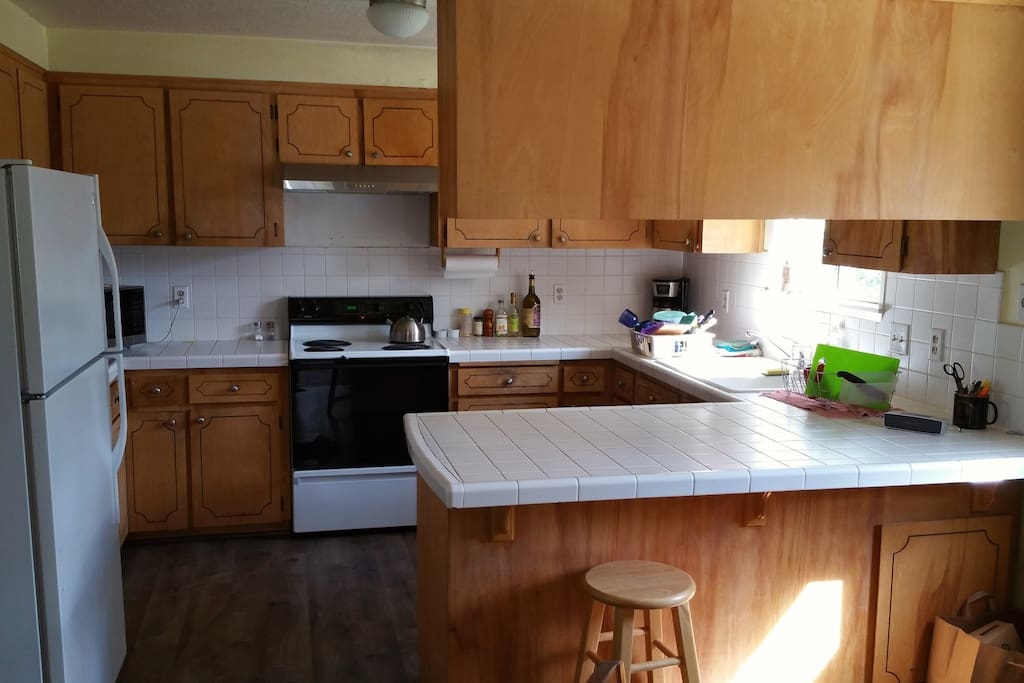 a kitchen in need of an update