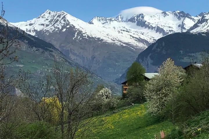 Maison vue panoramique dans un magnifique village