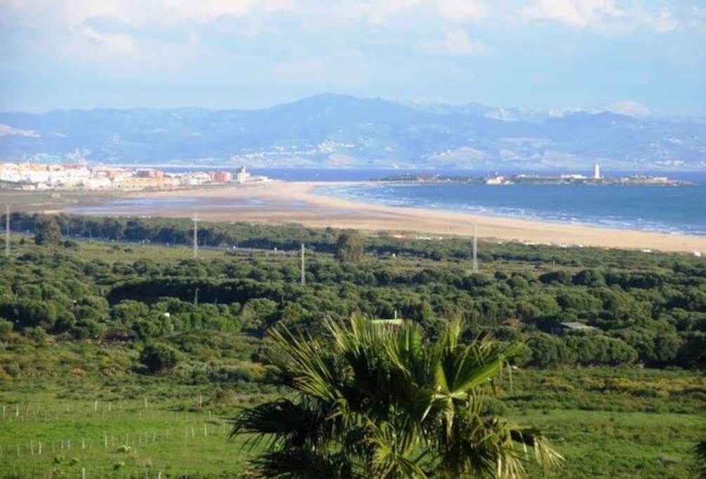 Breathtaking views of the strait of Gibraltar, Morocco and Tarifa