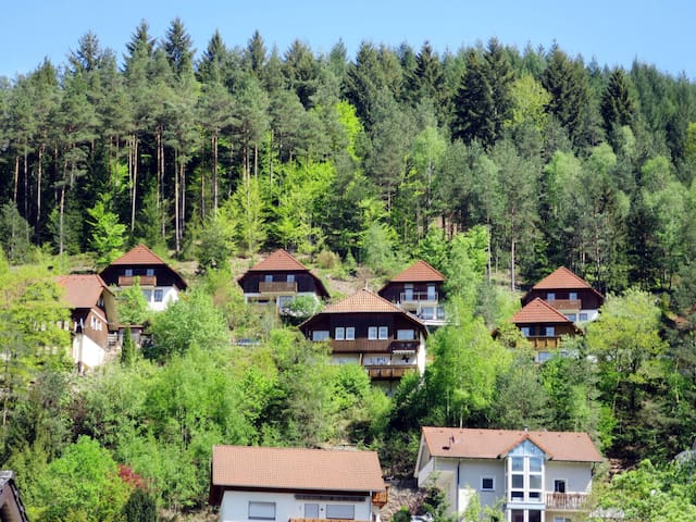 Lovely holiday home Sonnenschein on a hillside with nice view of the mountains
