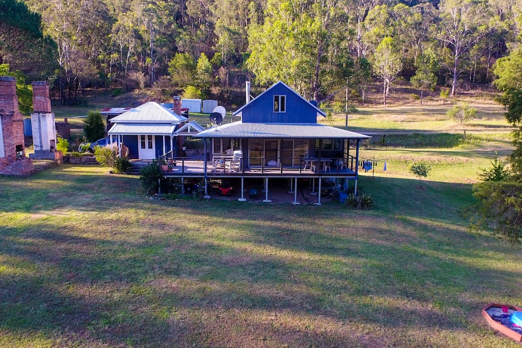 Drone shot of the house.