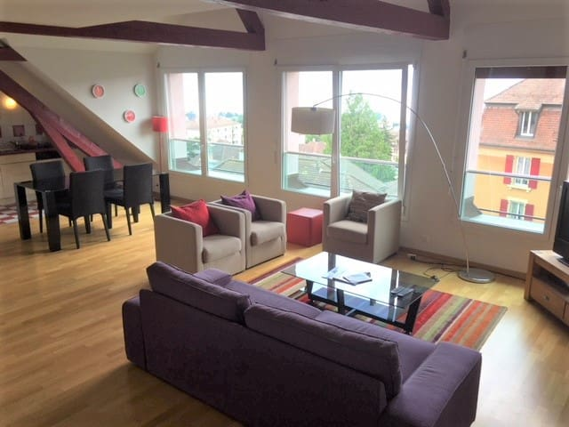 FURNISHED LOFT IN LAUSANNE WITH PANORAMIC VIEW