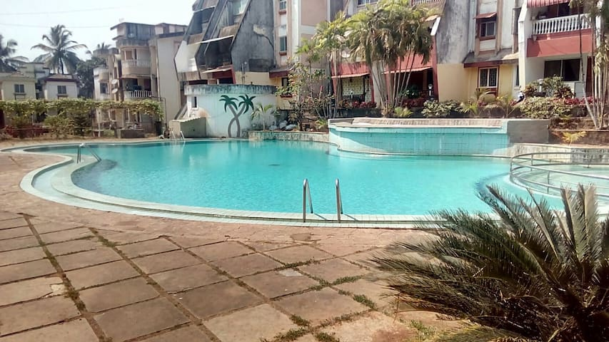 Palm Crest  on Beach -  Ward 4 , Colva  - Appartement