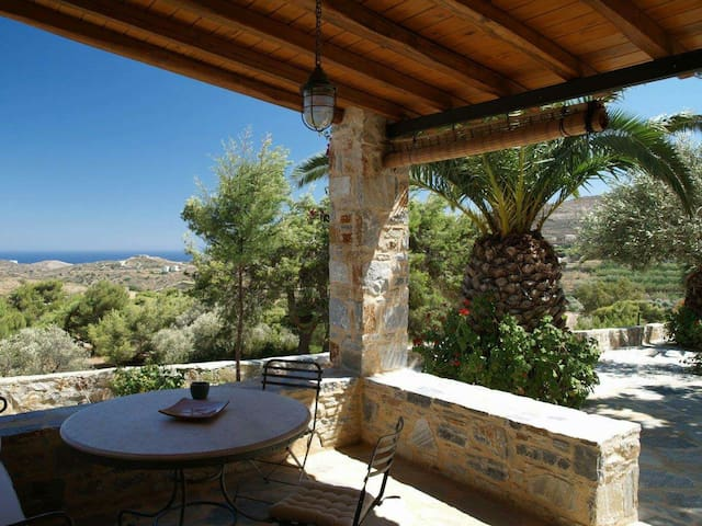 Traditional farmhouse, great sea view - Syros - Hus