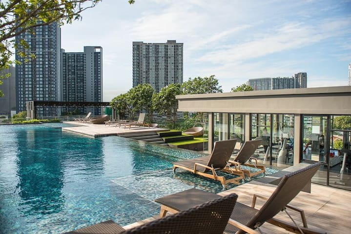 [PW_1] STUDIO HIGH FLOOR @ BTS ON-NUT - Bangkok - Apartament