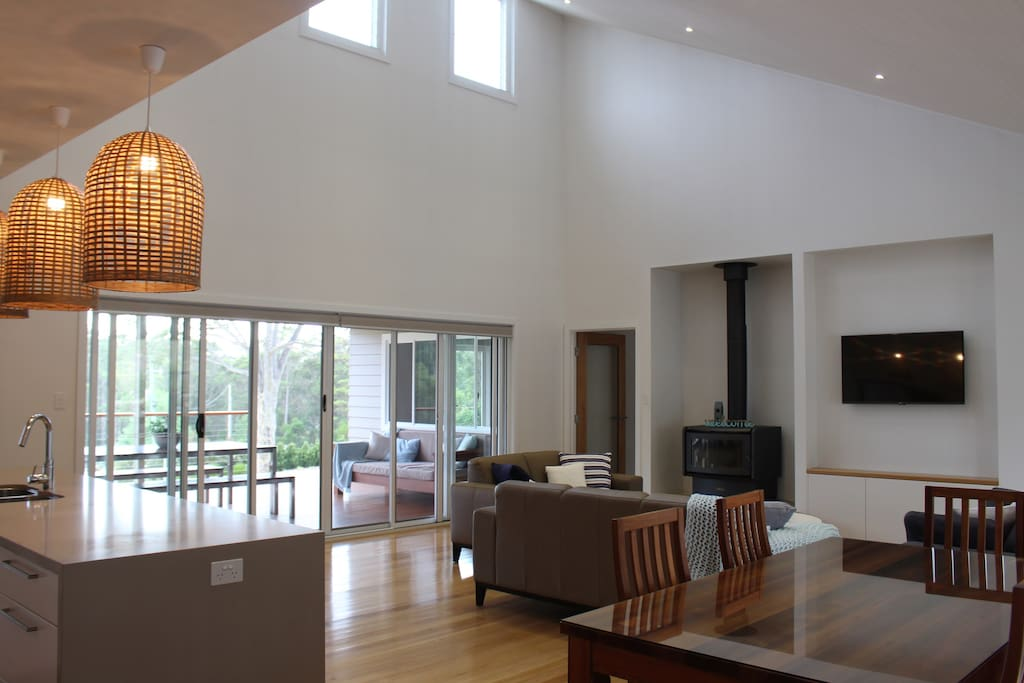 Open plan living area and outdoor area