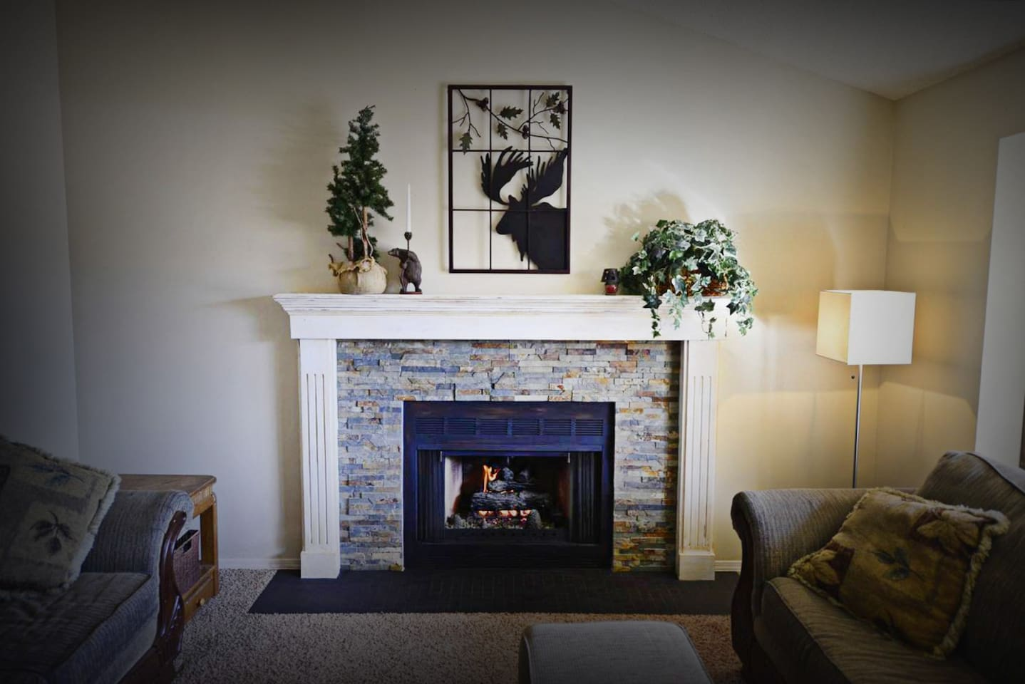 Cozy Gas Fireplace In The Living Room Is Perfect On Those Snowy Winter Days