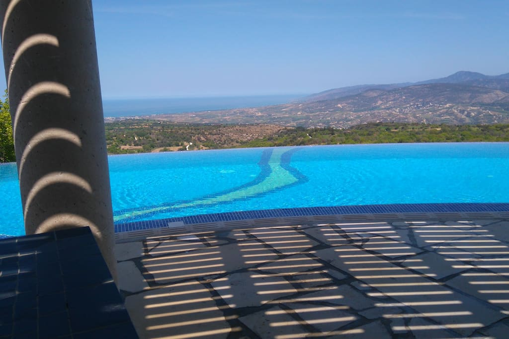 Laze in the beautiful infinity pool and take in the breathtaking views