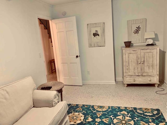 Sofa bed in bedroom/den has comfy Memory foam mattress downstairs