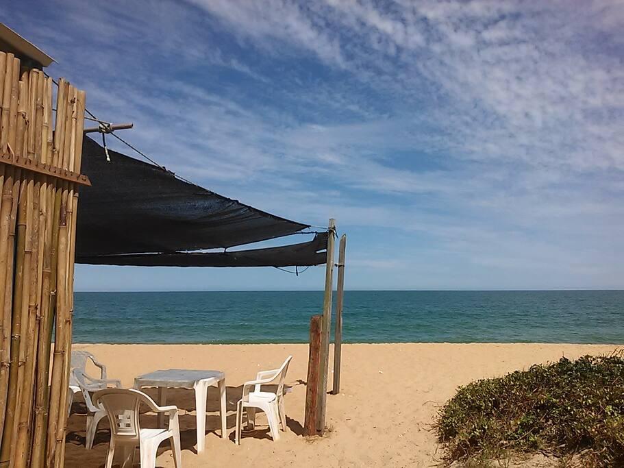 Vista quiosque da Praia