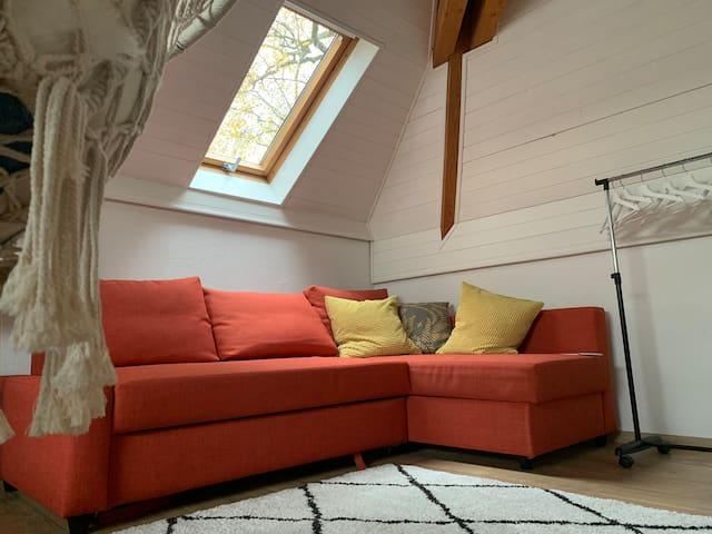 Queen-size sofa bed