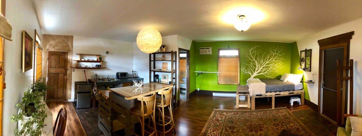 Nakusp Artist suite.  Comfy, cozy, quality!