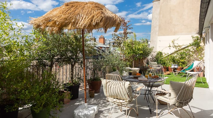 Huge sunny terrace in the Marais - 2 guests -