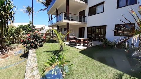 Apartamento Taiba Beach Resort Térreo 3 suítes