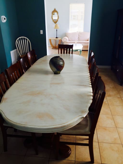 Dining room seats 12 people!