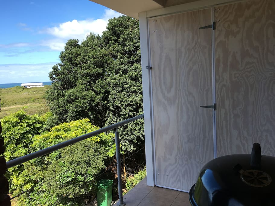 Balcony closed in to be weatherproof but with no loss to views! and privacy!