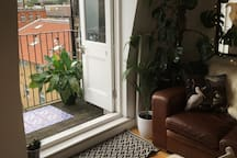 French doors to private balcony