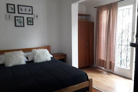 Habitacion doble con baño privado, TV y Calefacción