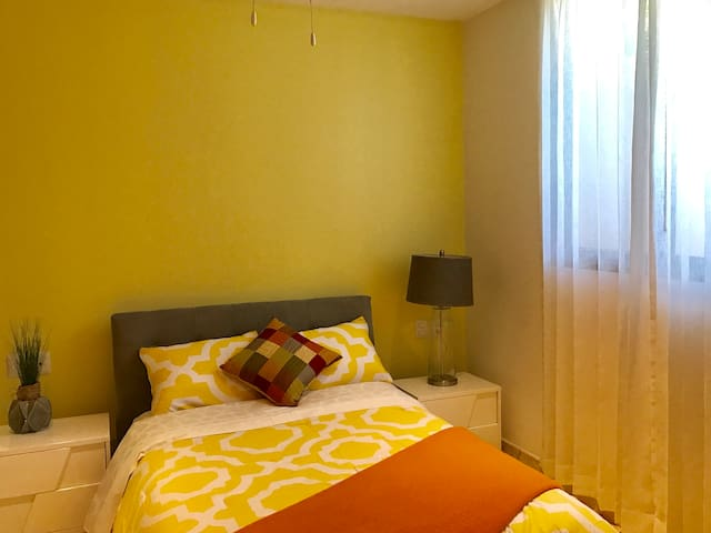 Second bedroom, AC & double bed