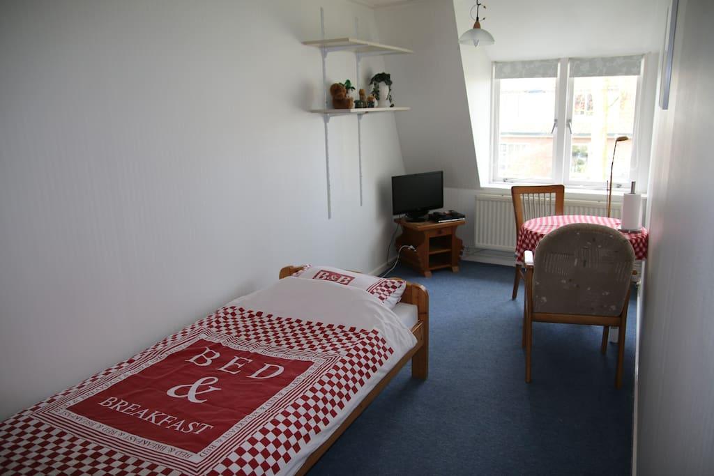 Één van de drie kamers