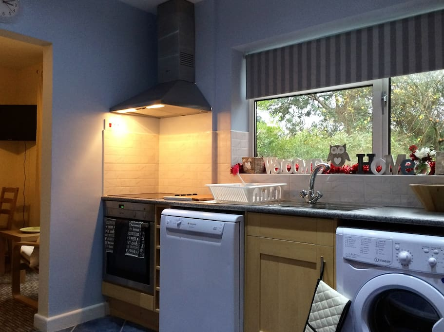 This is the Kitchen which is shared with other occupants who are very clean and tidy and will expect you to wash up after your own use as they will do the same.