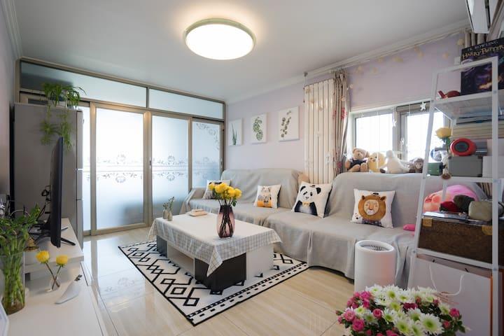 Olivia's温馨小居  惠新西街北口 5号线/独立卧室/舒适大床/奥体中心、鸟巢、贸易大学 - Пекин - Кондоминиум